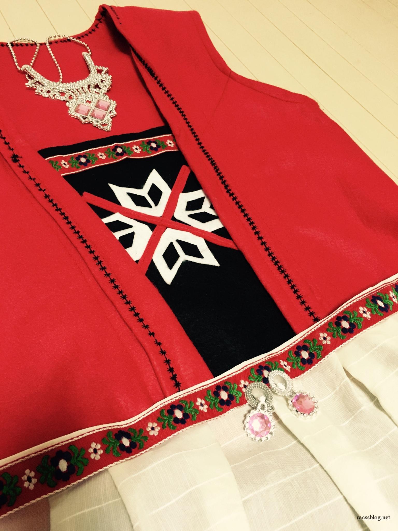 ノルウェーの民族衣装が可愛いので作ってみた!100均の材料で製作します