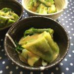 ウルイの酢味噌和えとウドの葉炒め(お庭の山菜)