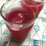 クエン酸赤しそジュースの作り方|濃縮タイプとストレートタイプの分量と大量の紫蘇を簡単に洗うコツ