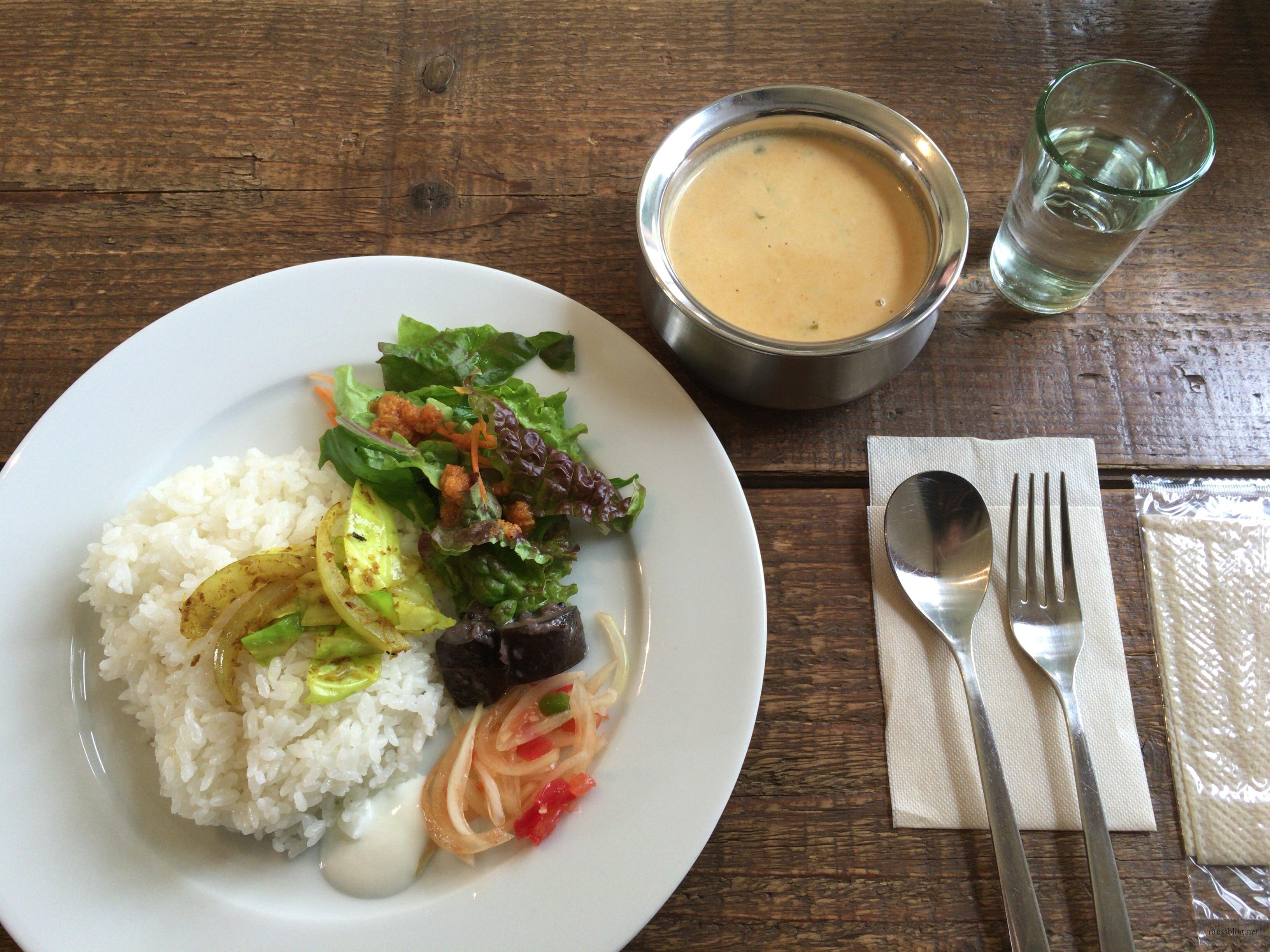 長沼町のshandi nivas cafeでココナッツカレー
