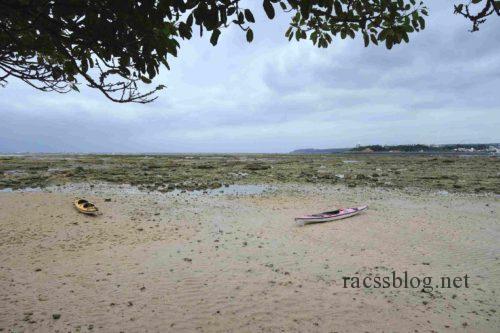 浜辺の茶屋干潮