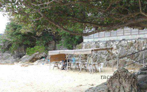 浜辺の茶屋海辺