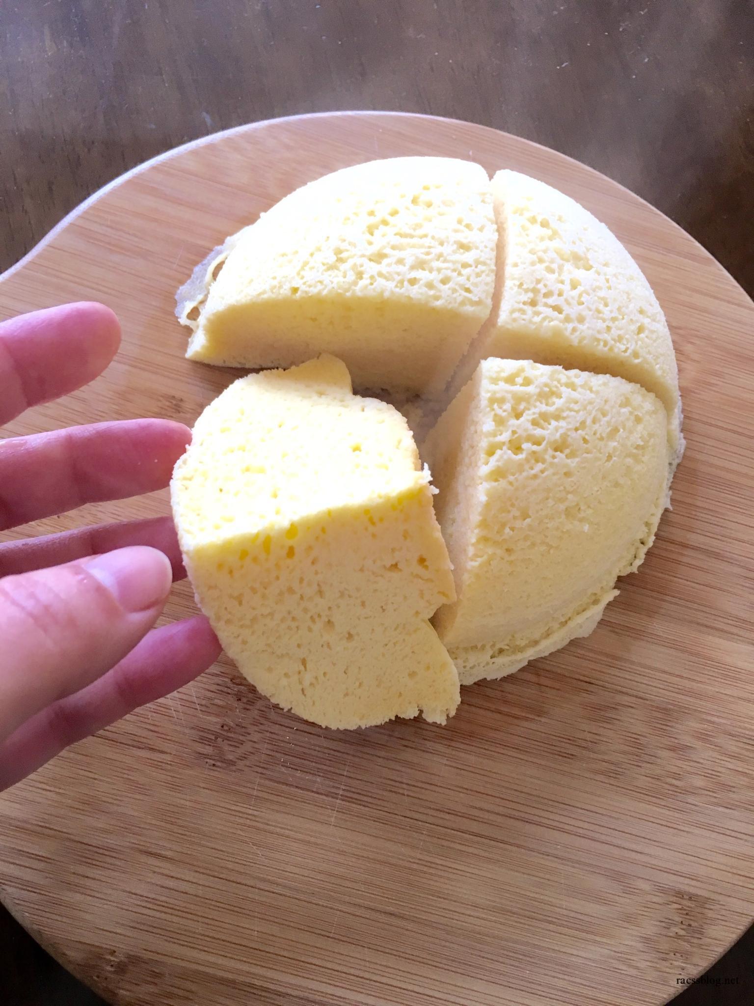 ドーム型のおから蒸しパン