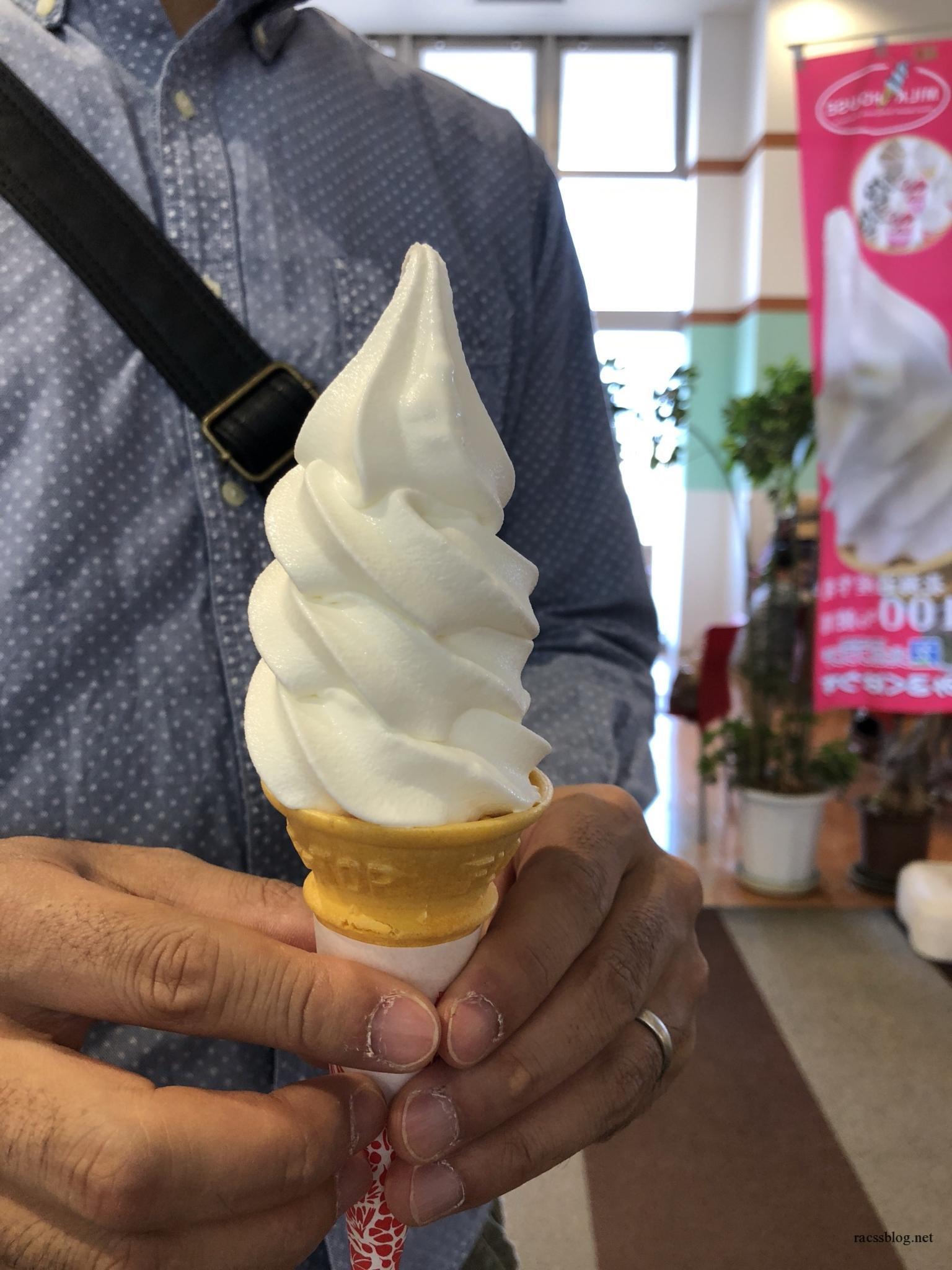 北広島市大曲の「札幌ミルクハウス」生乳ソフトは牛乳好きさんに食べてもらいたいアイスです