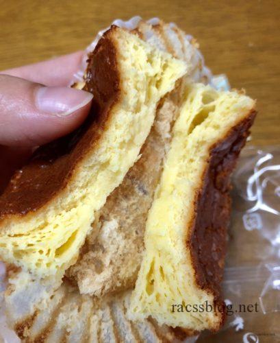 チーズケーキ「赤いサイロ」の断面