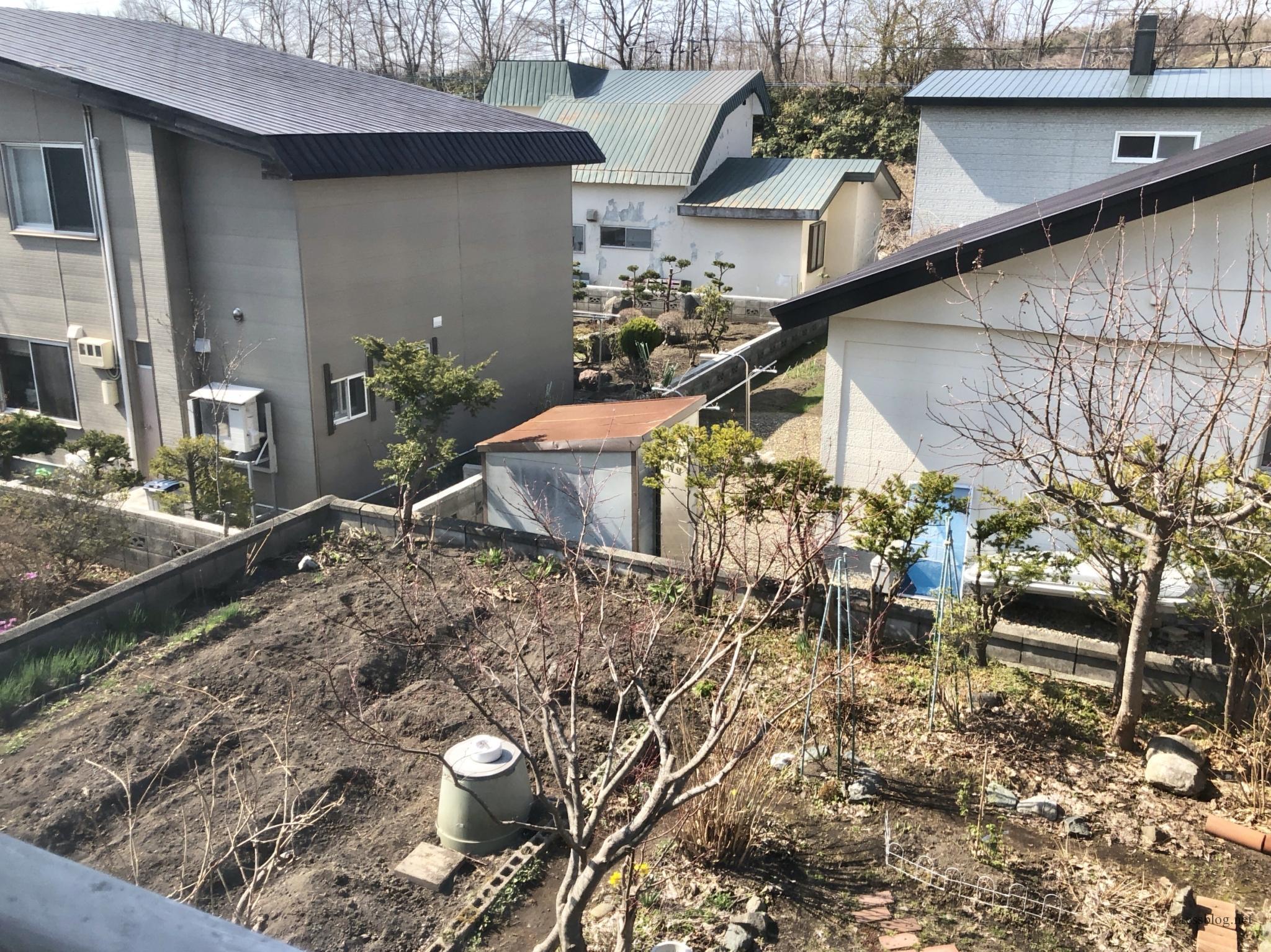 2019春|北海道も家庭菜園始動!4月の庭の様子