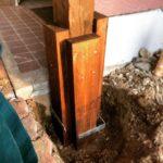 腐った柱の応急処置を端材で行う方法|古家メンテのようす