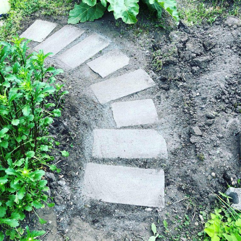 ブロック敷き石