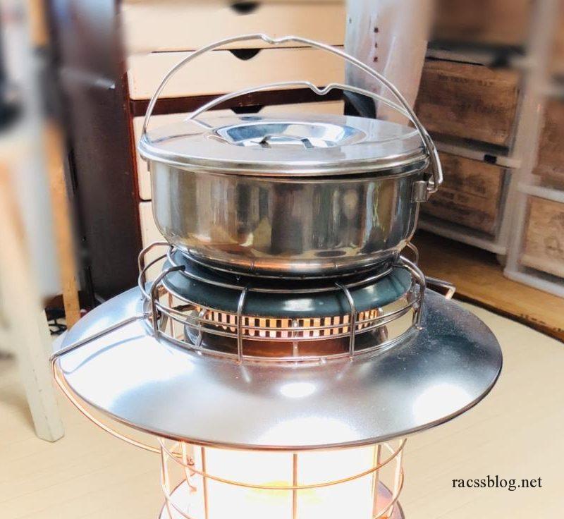 石油ストーブでほったらかし料理はじめました|トヨトミレインボーランタン(RL-250)に鍋を置くには