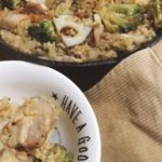発芽玄米の豚肉パエリアの作り方|カレールーで簡単スパイシー