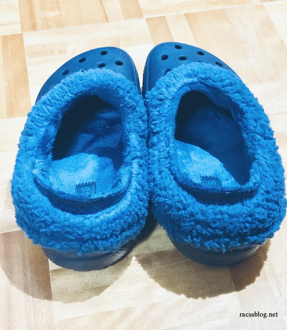 冬用クロックス(マンモス)のボアを外す方法|すごくきついけど取り外して洗えます