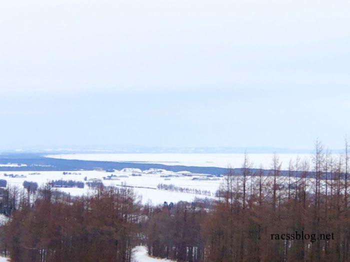流氷接岸した海