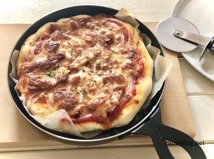 魚焼きグリルで焼くピザ