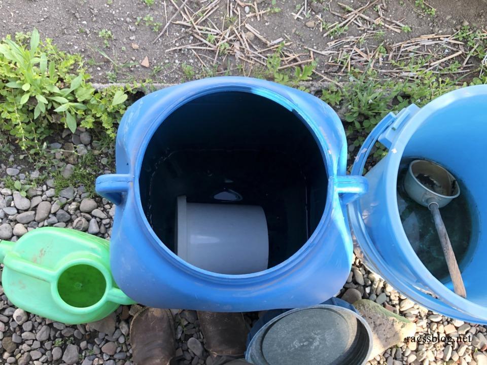 雨水タンクもからっぽ