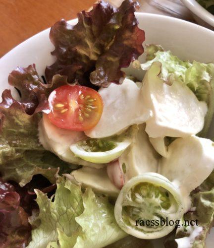 青トマトのサラダ