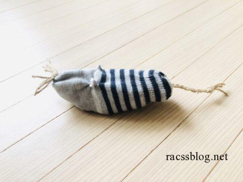 靴下で作ったねずみのおもちゃ